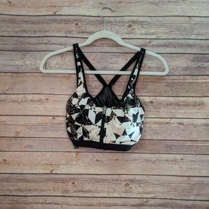 Victoria Sport bra black white neon speckles
